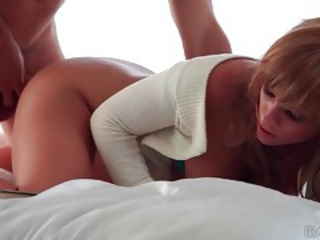 From behind sex with girl in sweater tubes