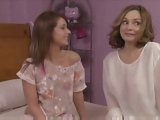 Young girl seduces older woman