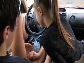 Car Girlfriend Handjob Teen