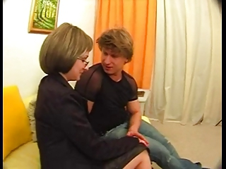 Glasses MILF Mom Old and Young Russian