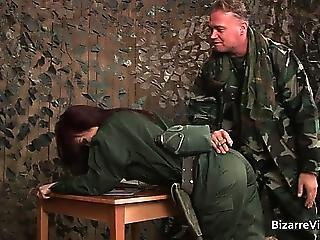 Army Doggystyle MILF Uniform