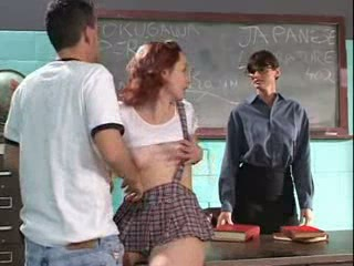 MILF School Student Teacher Teen Threesome