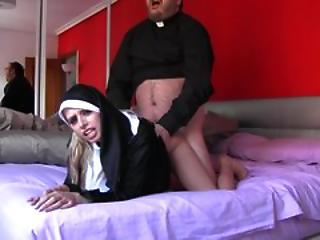 Clothed Doggystyle Nun Old and Young Teen Uniform