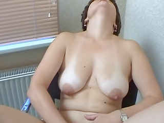 Russian pious mom first time at porn-casting. Part 1