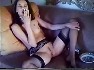 Amateur Amazing Cute Small Tits Smoking Stockings Teen
