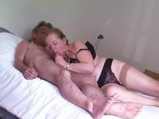 Amateur Blowjob Homemade Lingerie Older Stockings Wife