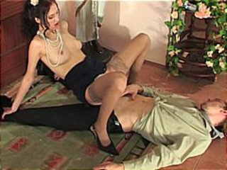 Clothed Cute Riding Stockings Teen