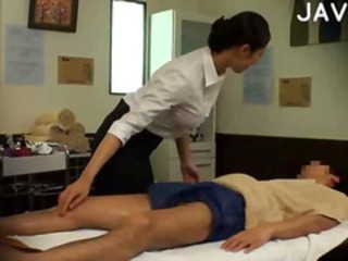 Furious brunette chick does sexy massage