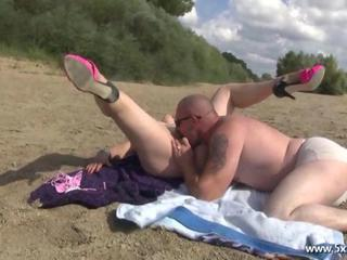 Beach Licking Outdoor Wife