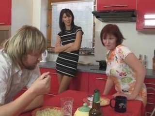 Daughter Drunk Kitchen Mom Threesome