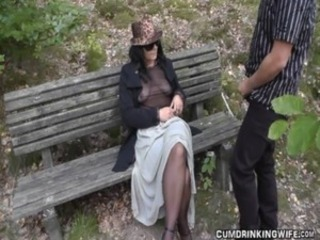 Slutwife fucked by strangers in parking area free