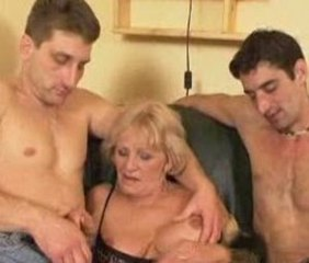 Handjob Old and Young Threesome