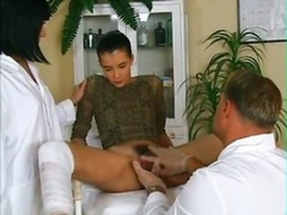 Doctor Fisting Hairy Teen Threesome Uniform