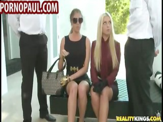 two cfnm woman share two guys