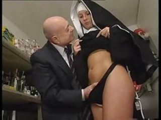 "Nun and a dirty old man get to playing around with her pussy"" target=""_blank"
