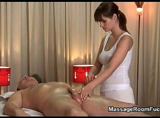 Handjob Massage Oiled Teen
