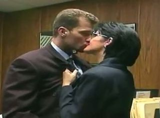 Glasses Kissing MILF Office Old and Young Secretary