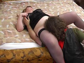 BBW Licking Mature Mom Old and Young Stockings