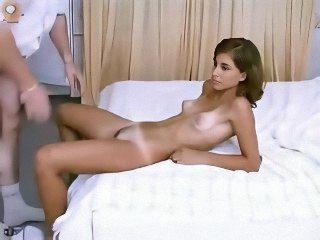Little brunette Tanja is getting fucked in the ass for the first time
