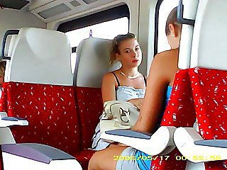flash...pretty girl on the train