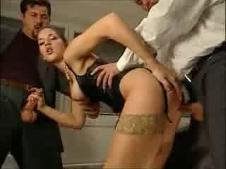 Babe Clothed European Hardcore Italian Stockings Threesome