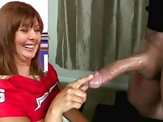 Big cock British European Handjob MILF
