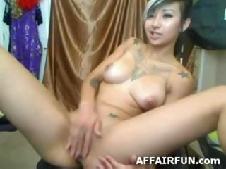 Masturbating Solo Tattoo Teen Webcam