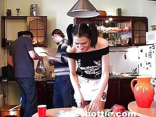 Young Teen Fucked In The Kitchen