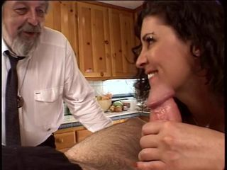 Blowjob Cuckold Kitchen MILF Wife