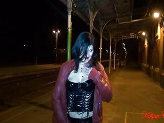 Amateur Latex MILF Outdoor Public