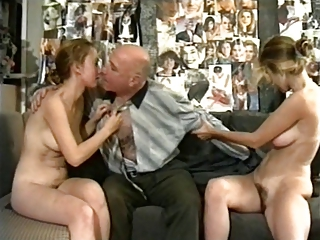 Daddy Daughter Family Hairy Old and Young Teen Threesome Vintage