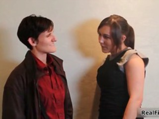 Two real lesbian amateur girls making part4