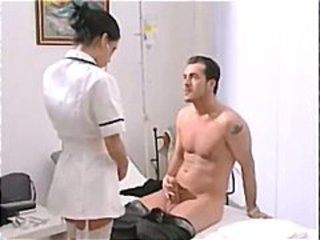 sexy nurse mya diamond in stockings gets facial