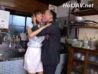 Asian Daddy Japanese Kitchen MILF Older Wife