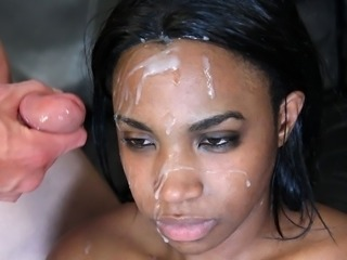 Cumshot Ebony Facial Interracial Tenåring