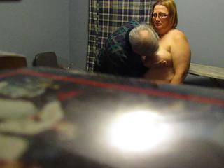 BBW Glasses  Mature Older Voyeur Wife