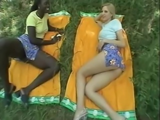 Ebony Interracial Lesbian Outdoor Teen