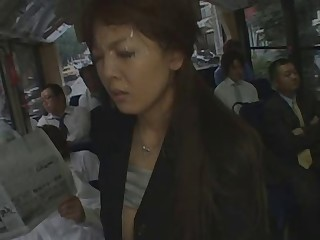 Asian Bus Japanese MILF Public