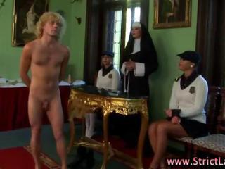 Fetish femdom nun and her students