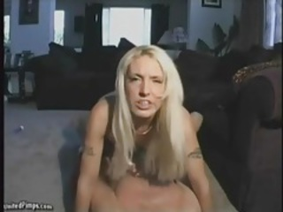 Hot shaved blonde rides his dick to orgasm tubes