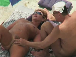 Amateur Beach MILF Nudist Outdoor Wife