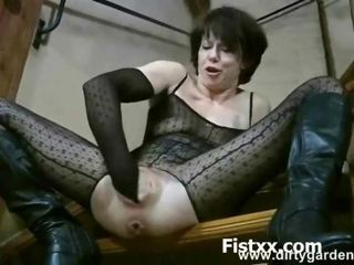 Sexy hard and wild fisting girl