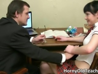 Daddy Old and Young Student Teacher Teen