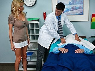 Big Tits Blonde Doctor MILF