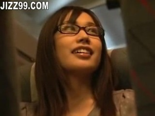 Asian Bus Cute Glasses Japanese Public Teen