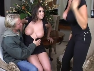 Big Tits MILF Old and Young Teen Threesome
