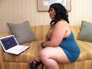 Fat Chick Watches Porn And Finge...
