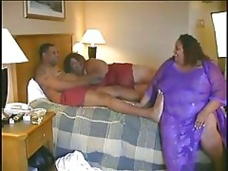 BBW Ebony MILF Threesome