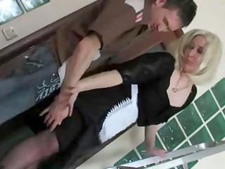 Bathroom Maid Mature Mom Old and Young Russian Uniform