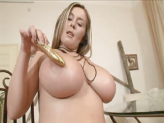 Amazing Big Tits Dildo MILF Pornstar Toy
